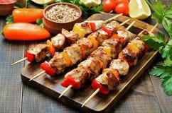 Kebab del pollo fritto immagini stock