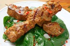 Kebab del porco fotografia stock