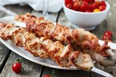 Kebab del shish del pollo Imagen de archivo