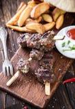 Kebab delicioso del cordero Foto de archivo libre de regalías