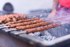 Kebab dell'Adana Fotografie Stock