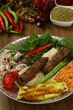 Kebab dell'Adana del turco Fotografie Stock