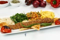 Kebab dell'Adana del turco Fotografie Stock Libere da Diritti