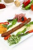 Kebab dell'Adana del turco Immagini Stock Libere da Diritti