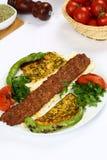 Kebab dell'Adana del turco Immagine Stock
