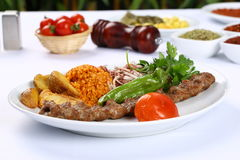 Kebab dell'Adana del turco Immagini Stock