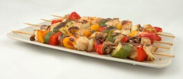 Kebab della verdura e della carne fotografia stock