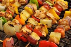 Kebab dello shish del pollo Immagine Stock