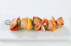 Kebab dello shish del pollo Immagini Stock