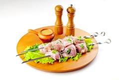 Kebab dello shish del porco Immagine Stock