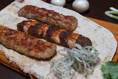 Kebab di carne tritata Immagini Stock Libere da Diritti