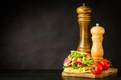 Kebab di Doner sullo spazio della copia Fotografia Stock Libera da Diritti