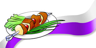Kebab di Shish in linea Fotografia Stock Libera da Diritti