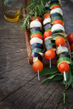 Kebab di verdure Immagini Stock