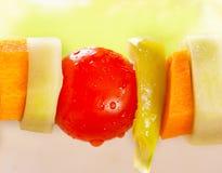 Kebab di verdure Fotografia Stock Libera da Diritti