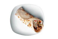 Kebab on a dish Royalty Free Stock Images