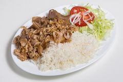 Kebab dish stock image