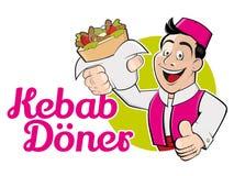 Kebab doner royalty free illustration