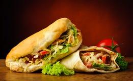 Kebab e shawarma Fotografia Stock Libera da Diritti