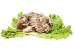 Kebab ed insalata della carne fresca Fotografia Stock