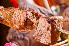 Kebab en el pincho Foto de archivo libre de regalías