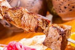 Kebab en el pincho Fotografía de archivo