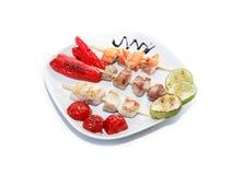 Kebab en la placa Imagenes de archivo