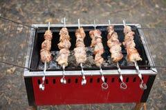 Kebab en los pinchos Fotos de archivo libres de regalías