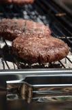 Kebab för BBQ-nötköttbiff på brand på picknick Royaltyfri Fotografi