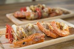 Kebab of fish Stock Images