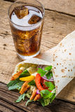 Kebab with fresh vegetables and chicken Stock Photography
