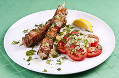 Kebab grelhado fotografia de stock