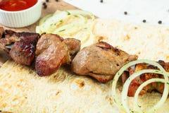 Kebab grelhado da carne de porco imagens de stock royalty free