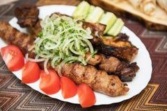 Kebab grelhado do shish Imagens de Stock