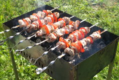 Kebab on the grill Royalty Free Stock Image