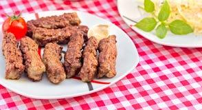Kebab grill - grilled kebabs Royalty Free Stock Image