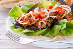 Kebab - grilled meat, bread Royalty Free Stock Photos