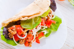 Kebab - grilled meat, bread Royalty Free Stock Image