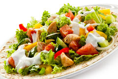 Kebab. Grilled meat and vegetables stock photography