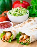 Kebab - grilled meat and vegetables Royalty Free Stock Photography