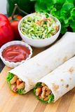 Kebab - grilled meat and vegetables Royalty Free Stock Image