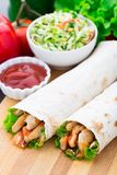 Kebab - grilled meat and vegetables Royalty Free Stock Photo