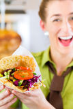 Kebab - hot Doner with fresh ingredients Stock Photos