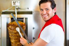 Kebab - hot Doner with fresh ingredients Royalty Free Stock Images