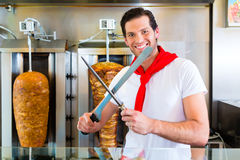 Kebab - hot Doner with fresh ingredients Stock Image