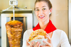 Kebab - hot Doner with fresh ingredients Stock Images