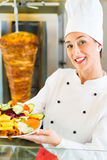 Kebab - hot Doner plate with fresh ingredients Royalty Free Stock Photography