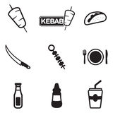 Kebab Icons Stock Images