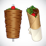 Kebab illustration Royalty Free Stock Photography