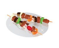 Kebab illustration vektor illustrationer